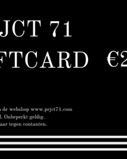 PRJCT 71 Giftcard 25 euro