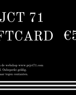 PRJCT 71 giftcard 50 euro